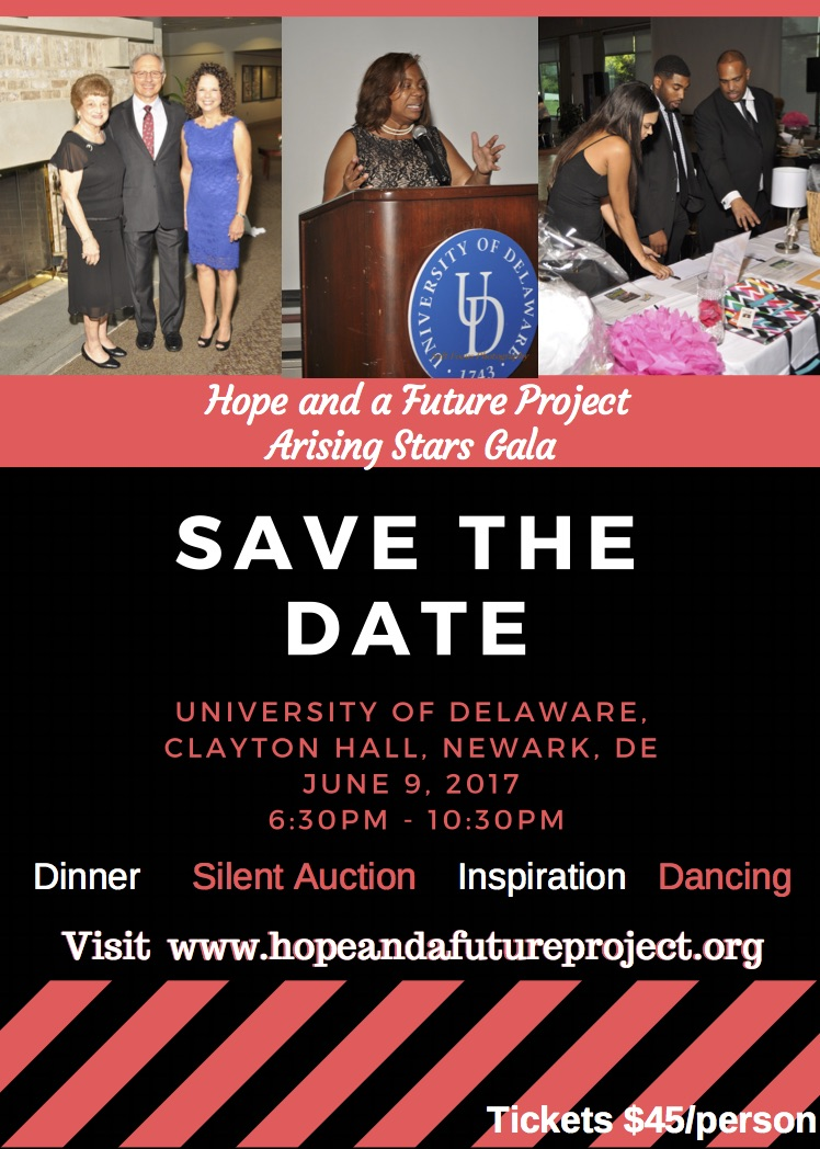Save the Date Hope and a Future Project Gala 2017